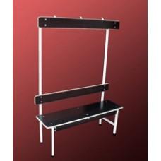 Скамейка для раздевалок с полочкой