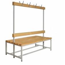Скамейка для раздевалок двойная