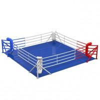 Ринг боксерский соревновательный, напольный на упорах