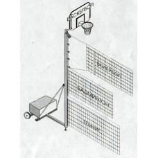 Стойки волейбольные свободно стоящие