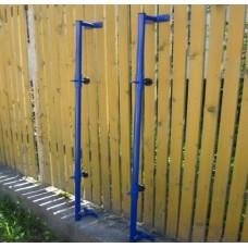 Стойки волейбольные пристенные с регулировкой высоты сетки
