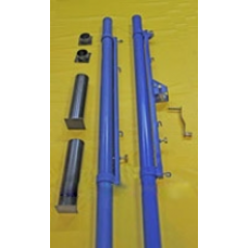 Стойки волейбольные c креплениями для сетки бадминтона и тенниса